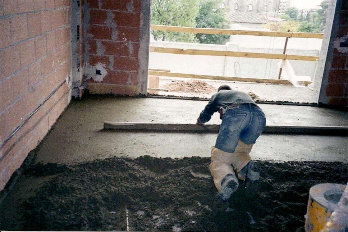 Pavimentos morteros semiseco